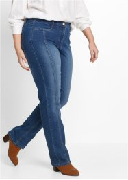 Stretchjeans med justerbar linning, bpc bonprix collection, blue stone
