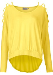 Blus med cut-outs, RAINBOW, citron