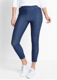 7/8-leggings med jeanslook, bpc bonprix collection, indigoblå