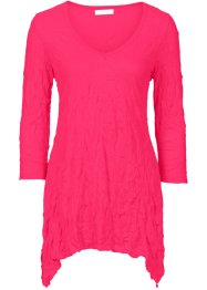 Crinkle-longshirt, bpc bonprix collection, hibiskuspink