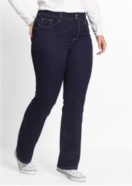 Push up-jeans i powerstretch, bootcutmodell, bpc bonprix collection, dark denim