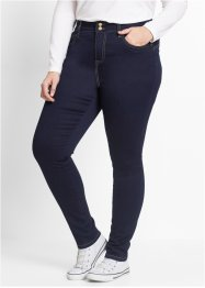 Push up-jeans i powerstretch, hög midja, bpc bonprix collection, dark denim