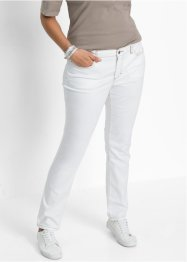 Power stretchjeans, STRAIGHT, John Baner JEANSWEAR, vit twill
