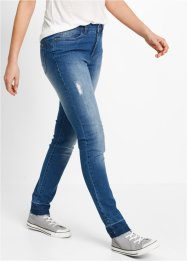 Jeans med öppen nederkant - designade av Maite Kelly, bpc bonprix collection, blue stone used