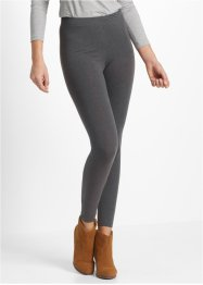 Stretchleggings 2-pack, bpc bonprix collection, antracitmelerad+svart