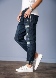 Boyfriend destroyed jeans, RAINBOW, dark denim