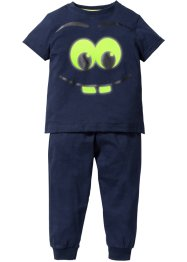 "Pyjamas (2-delat set) ""GLOW IN THE DARK"", bpc bonprix collection, mörkblå"