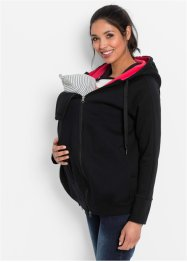 Mammamode: sweatjacka med babyinsats, bpc bonprix collection, svart