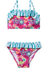 Bikini för flickor (2 delar), bpc bonprix collection, pink/turkos