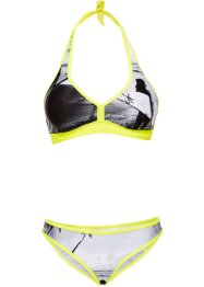 Halterneckbikini (2-delat set), bpc bonprix collection, svart/grå