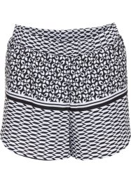 Strandshorts, bpc bonprix collection, svart/vit, mönstrade