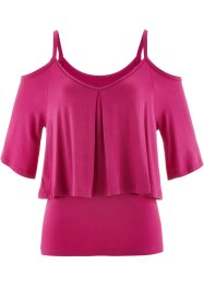 Off-shoulder-topp, bpc selection, mellanmagenta