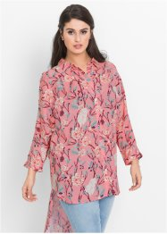 Oversized blus med cut-outs, BODYFLIRT, puderrosa, blommig