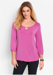 Topp, 3/4-ärm, bpc bonprix collection, ljus fuchsia