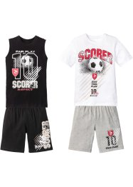 T-shirt + linne + bermudashorts (4-delat sportset), bpc bonprix collection
