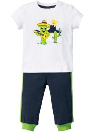 Baby-T-shirt + svettisbyxa (2 delar), ekologisk bomull, bpc bonprix collection