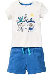 Baby-T-shirt + shorts (2 delar), ekologisk bomull, bpc bonprix collection