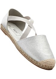 Espadriller, bpc bonprix collection, silver