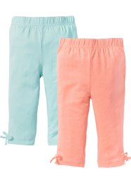 Trekvartsleggings (2-pack), bpc bonprix collection, persika/pastellmint