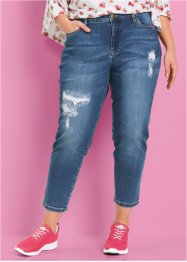 Girlfriend-jeans, 7/8-längd - i design av Maite Kelly, bpc bonprix collection, blue stone