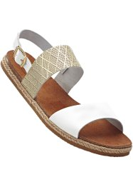 Skinnsandal, bpc bonprix collection, vit/guld