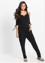 Jumpsuit med cut-outs, RAINBOW, svart