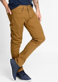 Stretchbyxa slim fit straight, RAINBOW, cognac