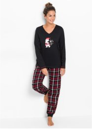 Pyjamas med flanellbyxa, bpc bonprix collection