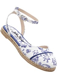 Espadrillos, bpc bonprix collection, vit/safirblå