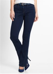 Bootcut-jeans med pressveck, bpc selection