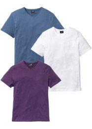 V-ringad T-shirt (3-pack), normal passform, bpc bonprix collection