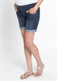 Mammamode: jeansshorts med mudd som slutar under magen, bpc bonprix collection