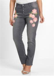 Stretchjeans med blomtryck, bpc selection