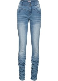 Stretchjeans med rynk, smal passform, John Baner JEANSWEAR