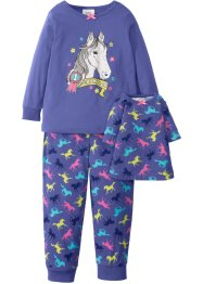 Pyjamas + docknattlinne (3 delar), bpc bonprix collection