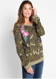 Sweatshirt med blommönster – designad av Maite Kelly, bpc bonprix collection