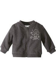 Baby sweatjacka, ekologisk bomull, bpc bonprix collection