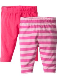 Babyleggings (2-pack), ekologisk bomull, bpc bonprix collection