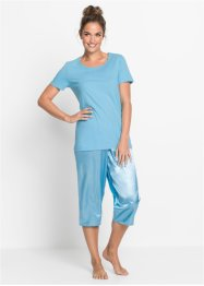 Capripyjamas med satinbyxa, bpc bonprix collection