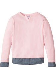 Sweatshirt med blusisättning, bpc bonprix collection
