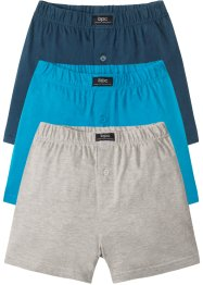 Avslappnade jerseyboxershorts (3-pack), bpc bonprix collection