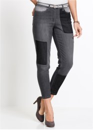 7/8-stretchjeans med lapptäckslook, bpc selection