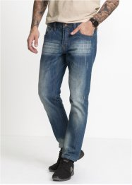Jeans, normal passform, avsmalnande ben, RAINBOW