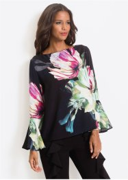 Blus med blommigt tryck, BODYFLIRT boutique