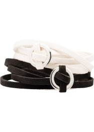 Set med virade armband (2 delar), bpc bonprix collection