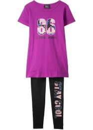 T-shirt + leggings (2-delat sportset), bpc bonprix collection