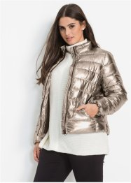 Täckjacka med metallic-look, BODYFLIRT