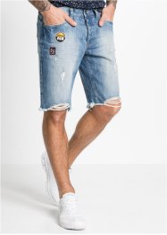 Jeansbermudas, normal passform, RAINBOW