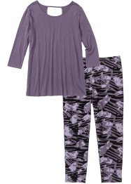 Pyjamas med caprileggings, bpc bonprix collection