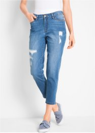 Girlfriendjeans med destroyed-effekter, 7/8-längd – designade av Maite Kelly, bpc bonprix collection